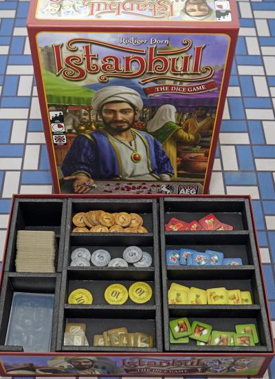 Istanbul Dice Game, Board Game Insert, Board Game Organizer, Foam Board Organizer, Foam Board Insert, Inis