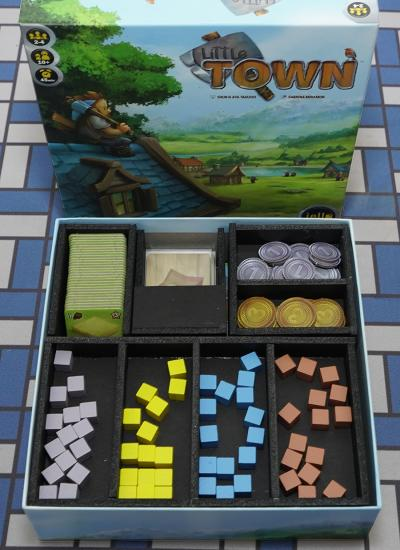 Board Game Insert, Board Game Organizer, Foam Board Organizer, Foam Board Insert, Little Town