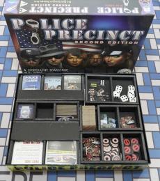 Board Game Insert, Board Game Organizer, Foam Board Organizer, Foam Board Insert, Police Precinct 2nd Edition